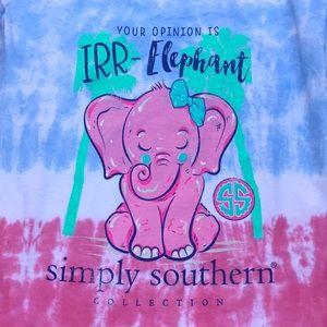 Simply Southern Irr-Elephant Youth L Tie Dye NWT